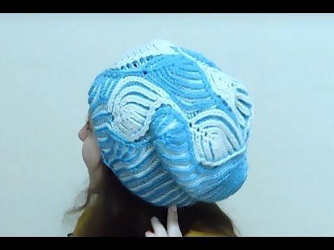 Женская шапка в технике Бриошь спицами. Часть 2 // Brioche Stitch // Women's hats knitting - YouTube