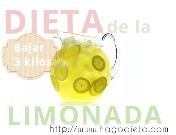 El limon es un poderoso quemador de grasa, consumir agua caliente con limon todavia es mas eficiente para diluir las grasas acumuladas en los tejidos adiposos del cuerpo, con la Dieta de la Limonada, tambien reduce la celulitis en las piernas y cadera.  Se puede Adelgazar 3 kilos en 3 o 4 dias, es una Dieta Depurativa, las propiedades y beneficios de los limones son: Vitamina C, flavonoides, antioxidantes, pectina, potasio, calcio, vitamina B, Acido Folico, Fosforo, Magnesio.