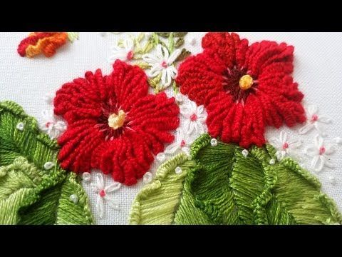 Hand Embroidery: Whipped Back Stitch/Loop Stitch - YouTube