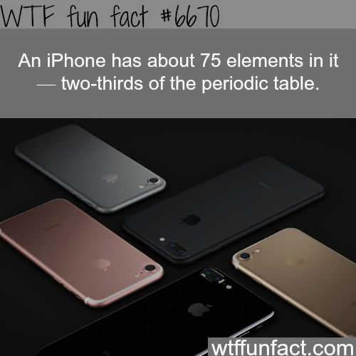 How many elements in an iPhone - WTF fun fact