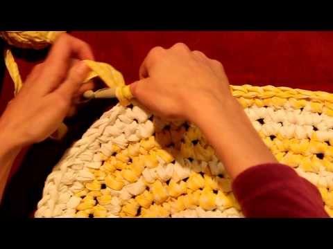 Crocheted Rag Rug Tutorial - YouTube