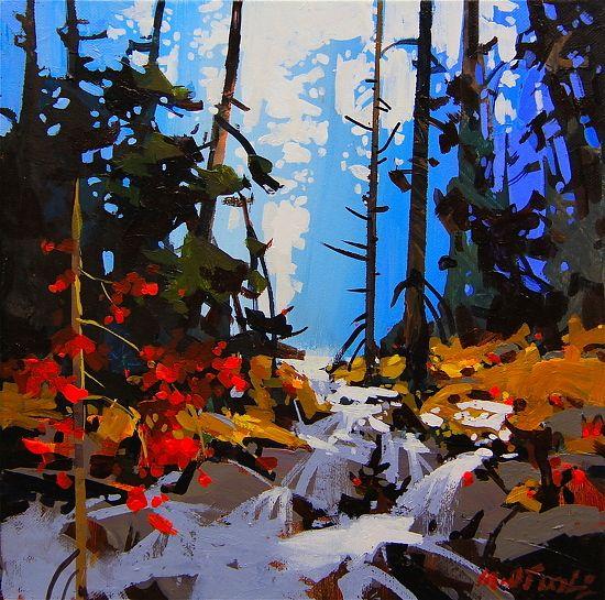 "Lynn Canyon Creek by Michael O'Toole Acrylic ~ 12"" x 12"""