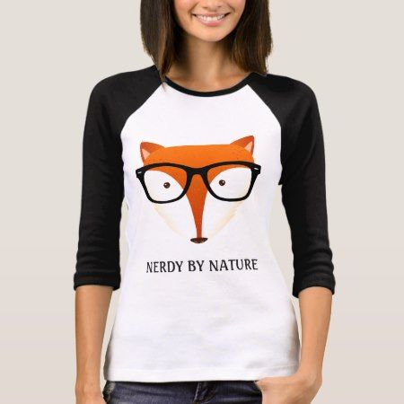 Cute and Funny Nerd Fox T-Shirt - click to get yours right now!