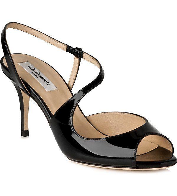 LK BENNETT Palmita patent leather sandals (Bla-black
