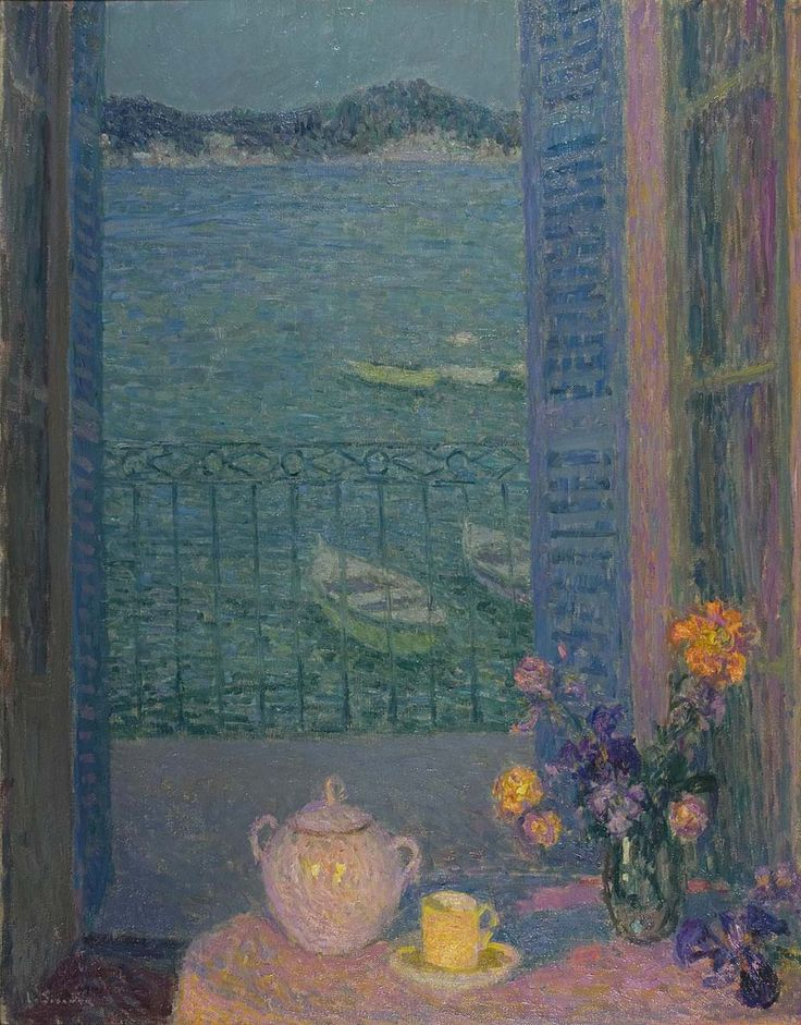 Bouquet by the window - Henri Le Sidaner - circa 1920 .....................#GT