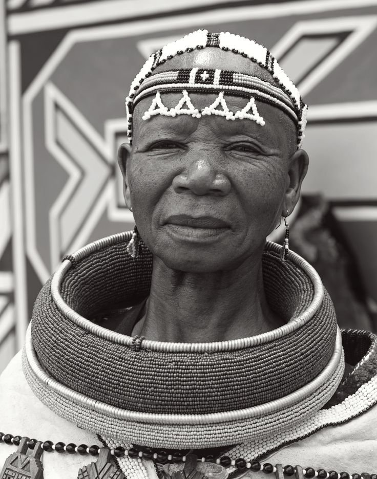 First wife of a Ndebele village in South Africa