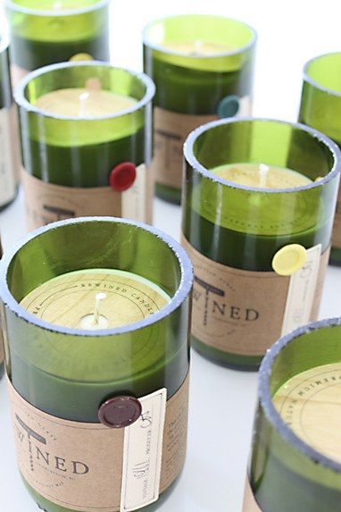 Rewined Candles logo and packaging | Brooklyn Art Project