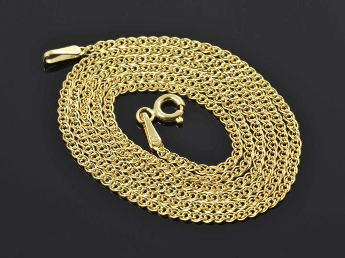 """18 k. Gold Necklace. Ketting """"Nonna"""" - 50 cm.Geen minimumverkoopprijs.  18 karaat geel gouden ketting.De ketting wordt gemarkeerd 750 en is in perfecte staat.Ketting breedte: 1.8 mmKettinglengte: 50 cmKettinggewicht: 328 gKoppeling Type - Nonna - diamant geslepenPrimaire materiaal - goudMateriaal kleur - geelMateriële zuiverheid - 18K/750Connector - springslotStatus: niet gebruiktGeregistreerde scheepvaartN.18.50.328  EUR 1.00  Meer informatie"""
