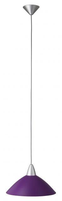 LOGO - závesná lampa strieborná/fialová