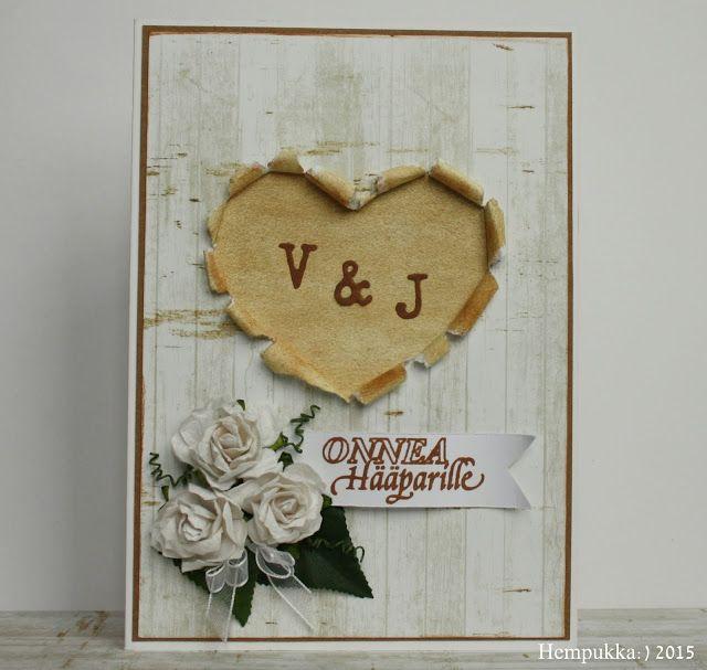 wedding card, hand made