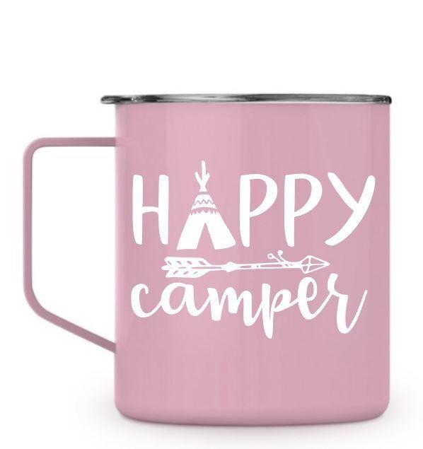 Happy Camper Coffee Mug Camping Coffee Cup Camping Dishes Vacation Cup Camping Coffee Camping Coffee Cups Mugs