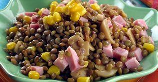 Lagris | Salát z čočky se šunkou