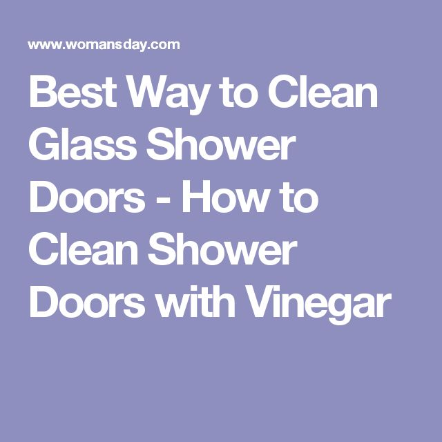 17 Best ideas about Cleaning Glass Shower Doors on Pinterest ...