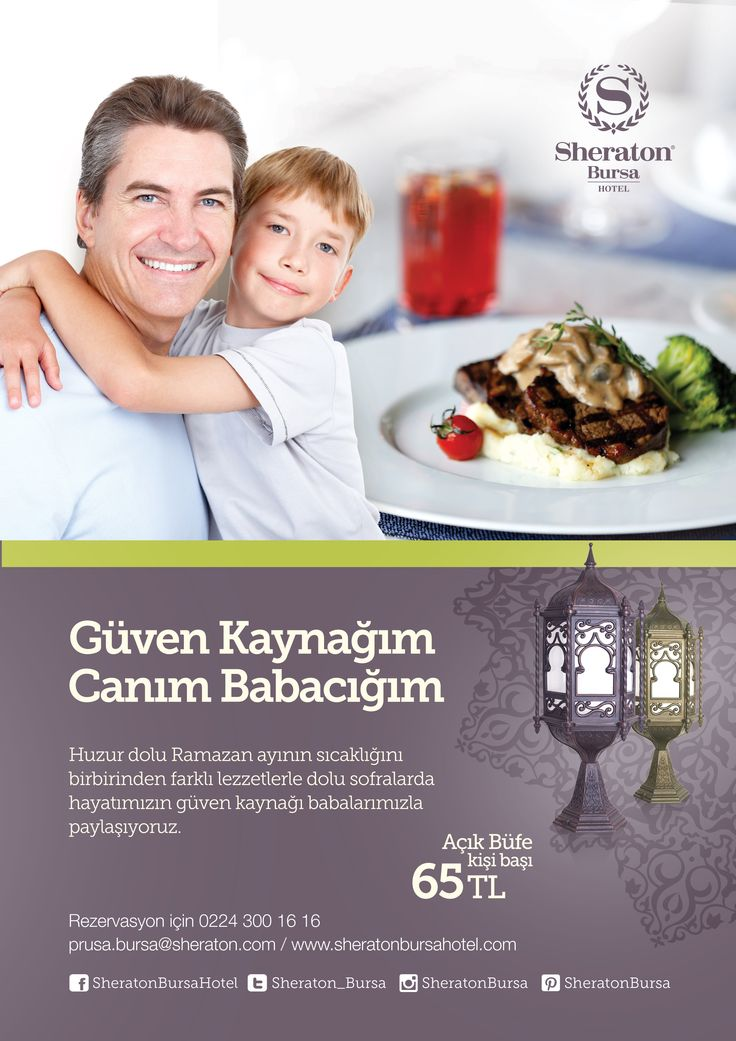 Babalar Günü'nde babanızı keyifli bir iftar yemeği ile mutlu edin..  Rezervasyon için: 0224 300 16 16   #sheratonbursa #babalargünü #iftar #ramazan
