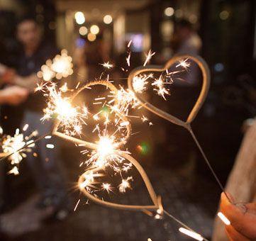 Heart Shaped Sparklers | Wedding Sparklers