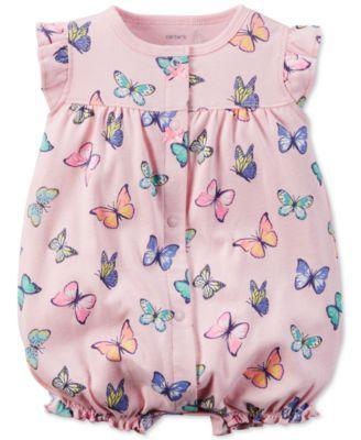 Carter's Baby Girls' Butterfly-Print Romper    macys.com