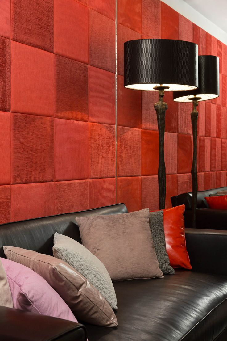 #leather #design #architecture #leathewall Leather tiles during Paris Deco Off 2015