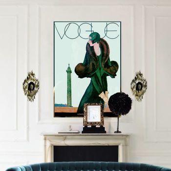 Vintage Reissue 1920's Vogue Cover Girl, Canvas Art