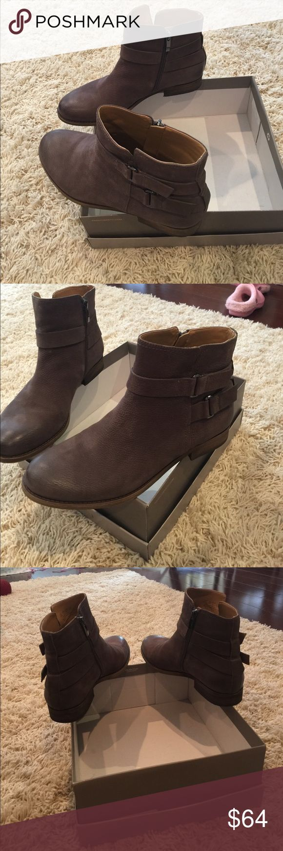 Women's Size9.5 FrancoSarto grey boots Worn only 1 time Franco Sarto grey boots with belt details. Size 9.5. Only worn for 1 hr or so!! New condition. No stains no scuffs Franco Sarto Shoes Ankle Boots & Booties