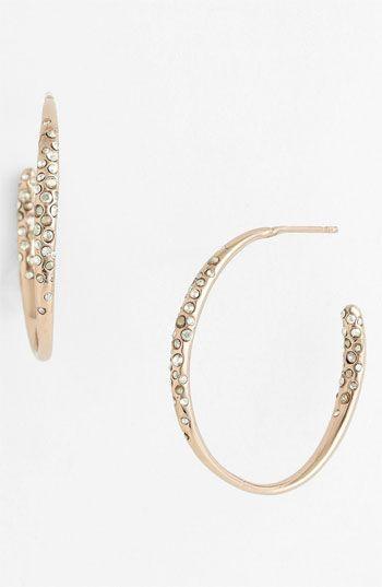 Alexis Bittar 'Miss Havisham' Small Inside Out Hoop Earrings