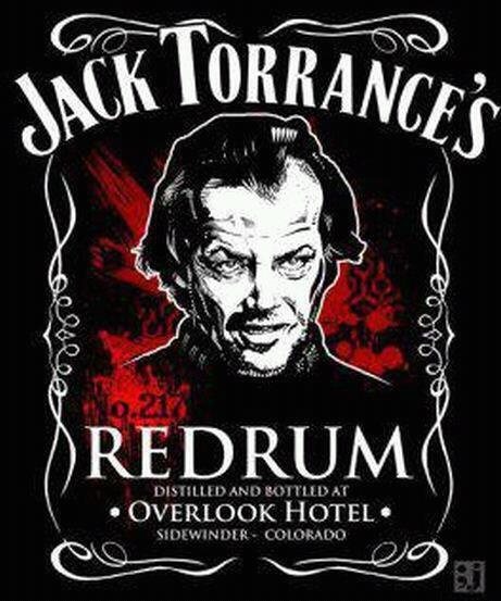 The Shining: Jack Torrance's Redrum, distilled and bottled at The Overlook Hotel. Love this.: