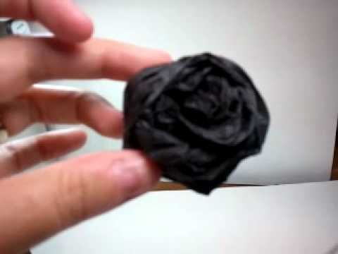 QuickClip-Fast Crepe Paper Roses - YouTube
