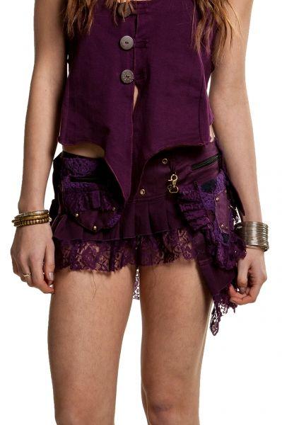 Cyber punk mini skirt  Steampunk skirt with studs #gekko #gekkocamedn#gekkobohotique #gekkolondon #steampunk #goth #gothic #festival #festivalstyle #festivalclothes #gypsy #boho #bohemian #pixie #fairy #fairystyle #alternative #goa #psytrance #tribal #camdentown #camdenmarket #greenwichmarket #skirt #miniskirt