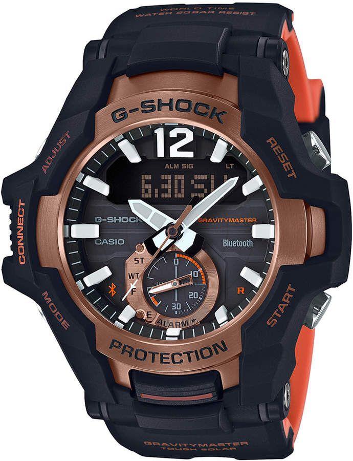 G Shock Men Solar Analog Digital Gravity Master Black Resin Strap Watch 53 8mm Casio G Shock Relogio Casio G Shock