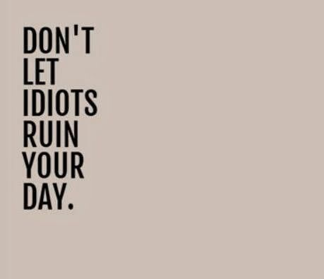 Don't let idiots ruin your day   Inspirational Quotes