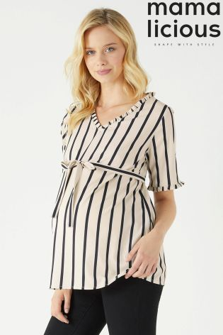 32b90ab1201f2 Buy Mamalicious Maternity Half Sleeve Woven Maternity Top from the Next UK  online shop