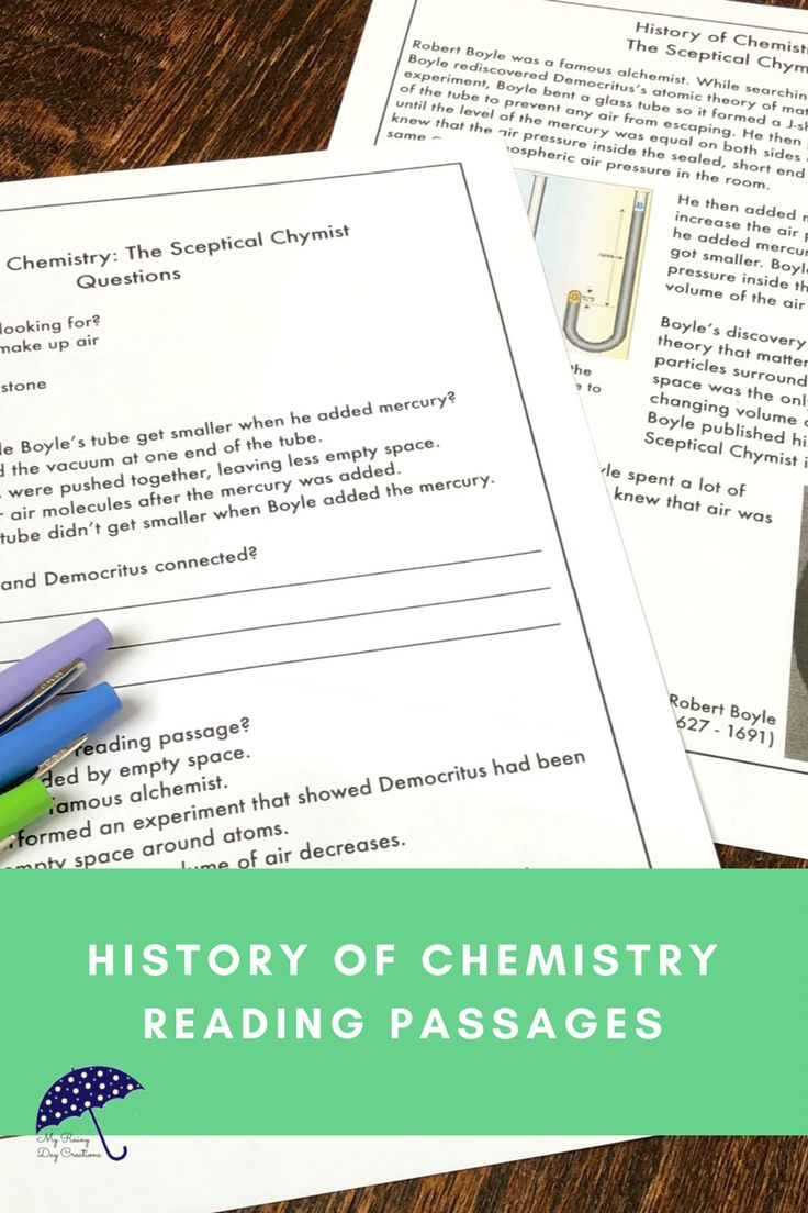 Are you teaching middle school or upper elementary chemistry? Do some of your students need a little extra help? Understanding the history of chemistry can help students understand the concepts you are teaching. Using reading passages is an opportunity for cross-curricular instruction with science, social studies, and reading. Learn about how Robert Boyle contributed to the study of chemistry. Click to see more!