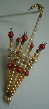 Antique Czech Beaded Glass ornament