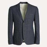 Laurier Striped Linen Blazer in Navy