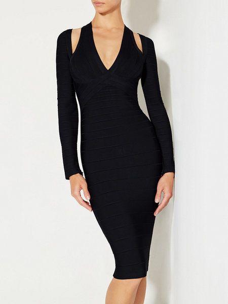 Shop Bandage Dresses - Black Sexy Cutout Bodycon Bandage Dress online. Discover unique designers fashion at StyleWe.com.