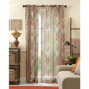 Better homes and gardens ikat curtains spice just Better homes and gardens valances for small windows