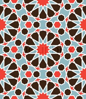 Arabesque seamless pattern in editable vector file | Vector | Colourbox on Colourbox