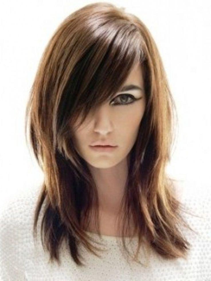 Super lange Haarschnitte für dünnes Haar und rundes Gesicht