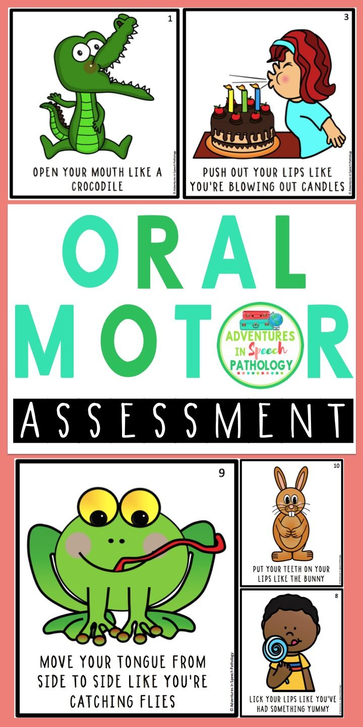 Sometimes you need some fun pictures to get kids to perform some basic oral motor movements as part of your speech assessment.