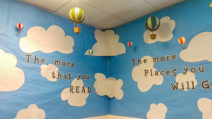My hot air balloon themed classroom! I love how it turned out! http://tiffaniberthold.wordpress.com/2014/08/06/back-to-school-night/