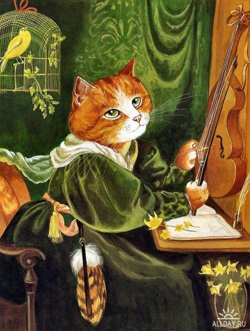 Susan Herbert also does beautiful cat paintings.