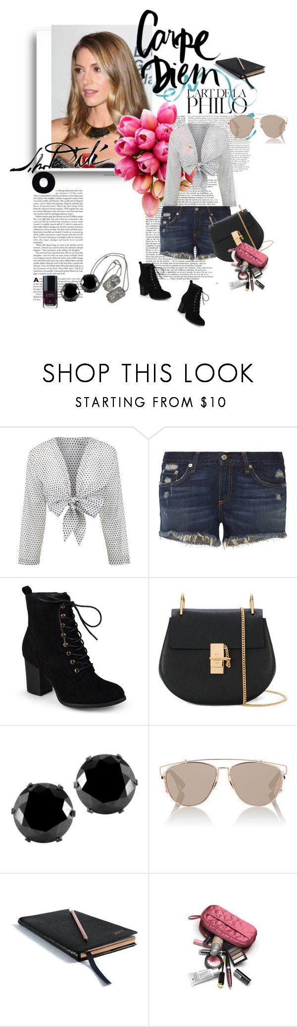 """Untitled #236"" by bonniesock ❤ liked on Polyvore featuring Lisa Marie Fernandez, rag & bone, Journee Collection, Chloé, West Coast Jewelry, Christian Dior, Reception, Smythson, Salvador Dali and Chanel"