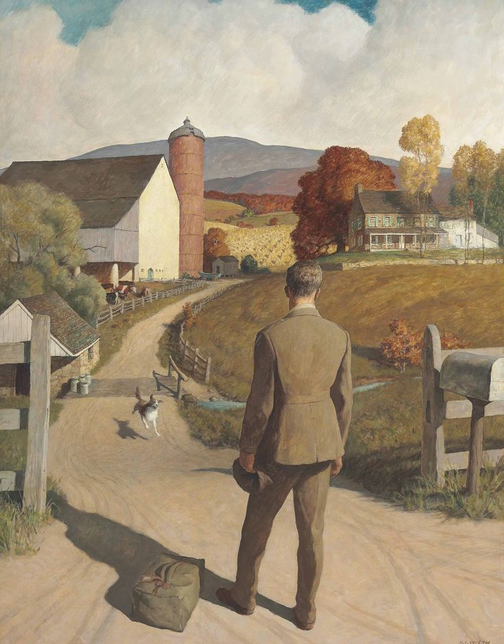 Newell Convers (N. C.) Wyeth (1882-1945) The Homecoming (1945) oil on panel 88.9 x 66 cm