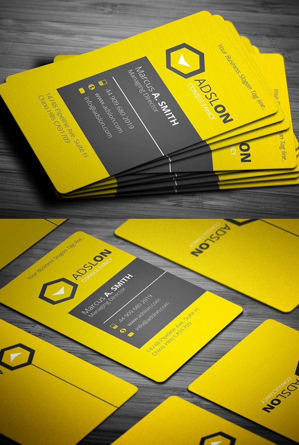 Yellow Business Card #businesscards