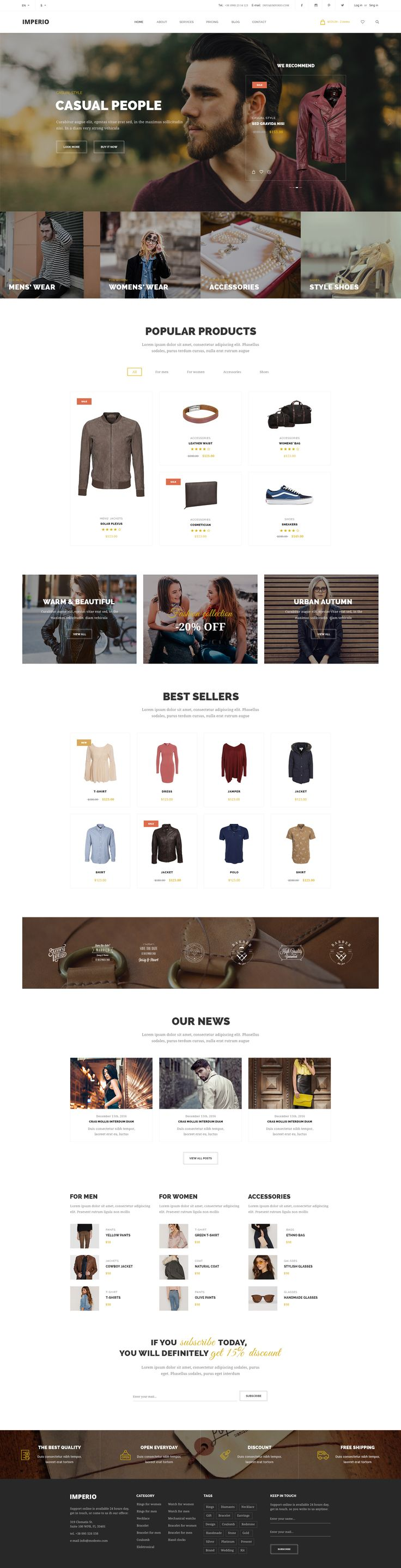 Imperio - Power Multi-Purpose eCommerce PSD Template #clothing #e-commerce #ecommerce • Download ➝ https://themeforest.net/item/imperio-power-multipurpose-ecommerce-psd-template/19588343?ref=pxcr
