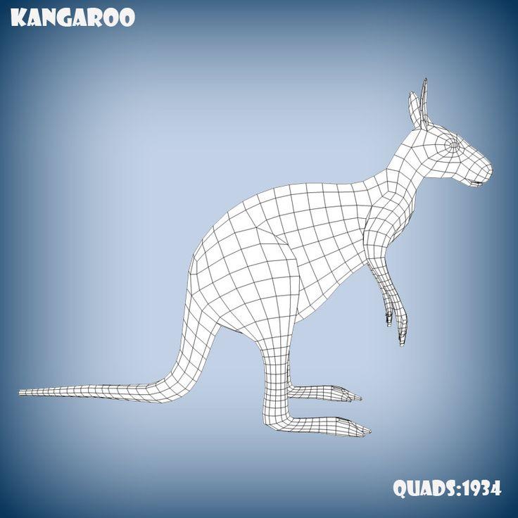 3d kangaroo base model