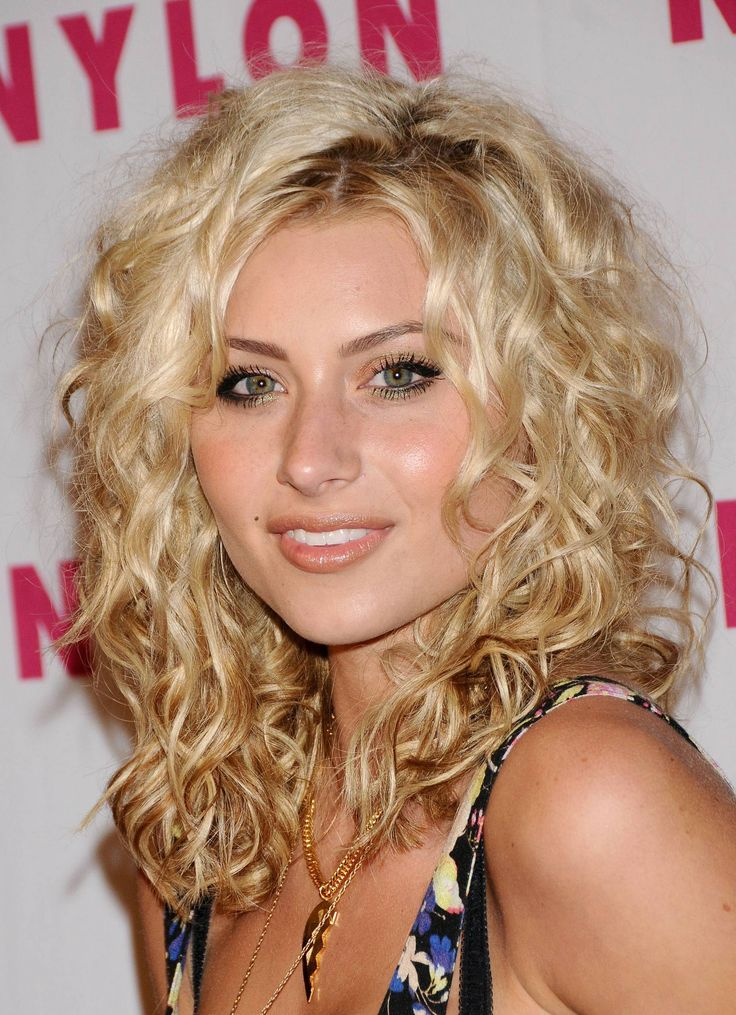 Aly Michalka medium curly hair