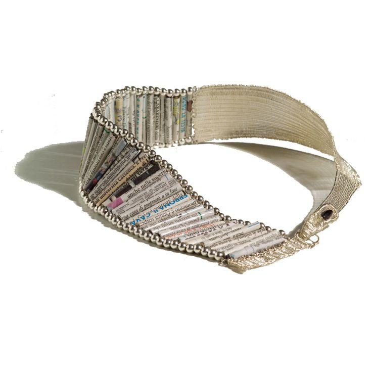 Necklace with Newspaper Rolls - CeeBee