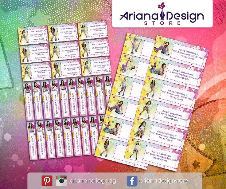 Kit Imprimible de #etiquetas personalizadas con el motivo #SoyLuna. | 3 tamaños: 9 x 3,5 cm, 5 x 1 cm y 5 x 3 cm. |   Personalized and printable #labels pack - #ImLuna.  | 3 sizes: 9 x 3,5 cm, 5 x 1 cm and 5 x 3 cm. |   Tienda/Shop: https://arianadesignstore.etsy.com
