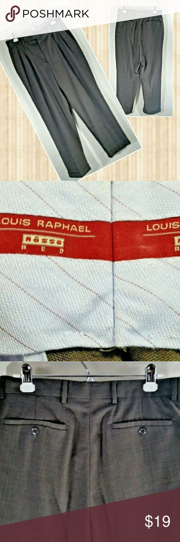 Louis Raphael Rosso Red Brow Plaid Slacks Louis Raphael Rosso Red Men's Pleated Front Dress Pants Slacks Trouser  Brown Glen Plaid  Size 32 x 30 - Measures at 32 x 29.5 Lying Flat  Gently Used - No Flaws Found Upon Inspection and Photographing - See Photos for Description  86% Polyester 14% Viscose  Thank you for looking! Louis Raphael Rosso Red Pants Dress