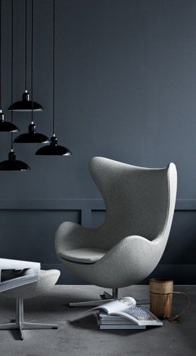 the iconic Egg chair by Arne Jacobsen. Designed in 1958 but destined to be modern forever